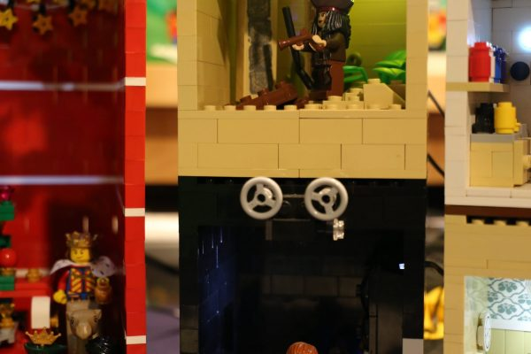 LEGO made Treasure Island scene and Cinema by Rachel